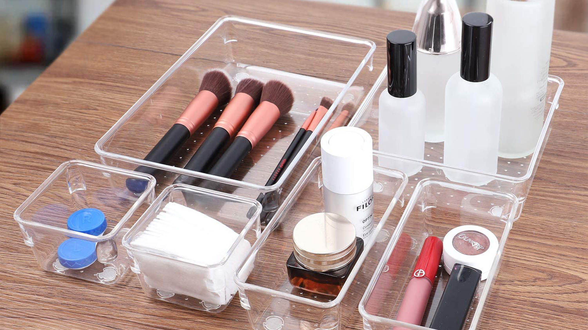 SMARTAKE 13-Piece Drawer Organizers with Non-Slip Silicone Pads