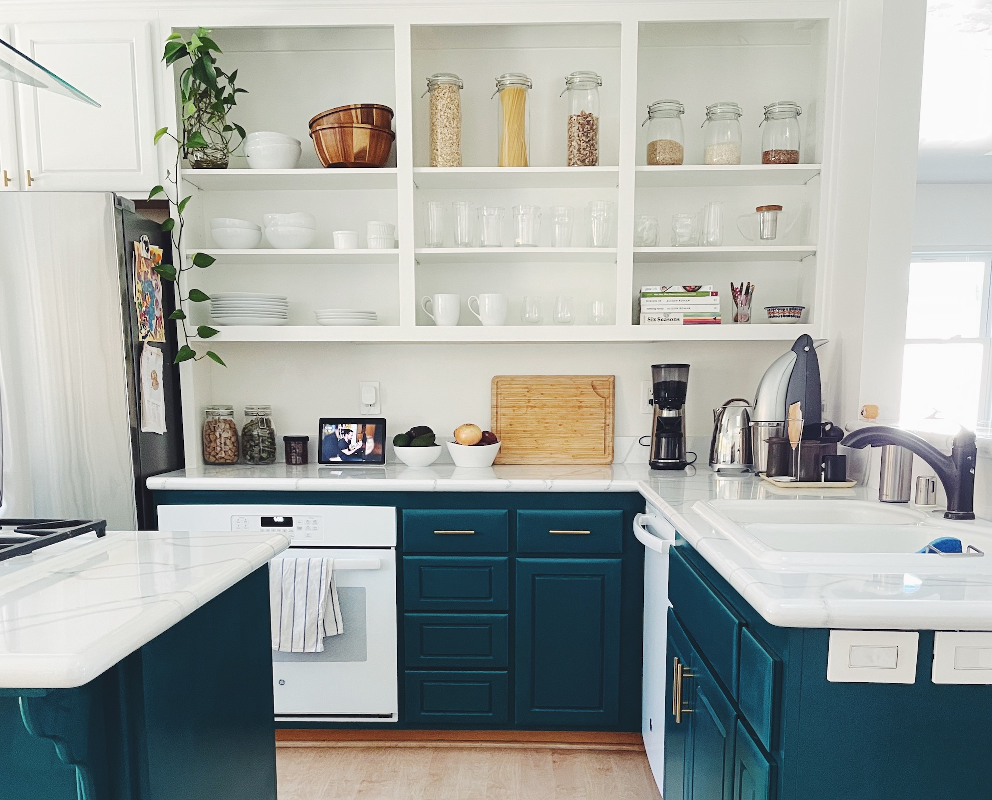 Space of Week, Kitchen Makeover Cabinets and painted countertops