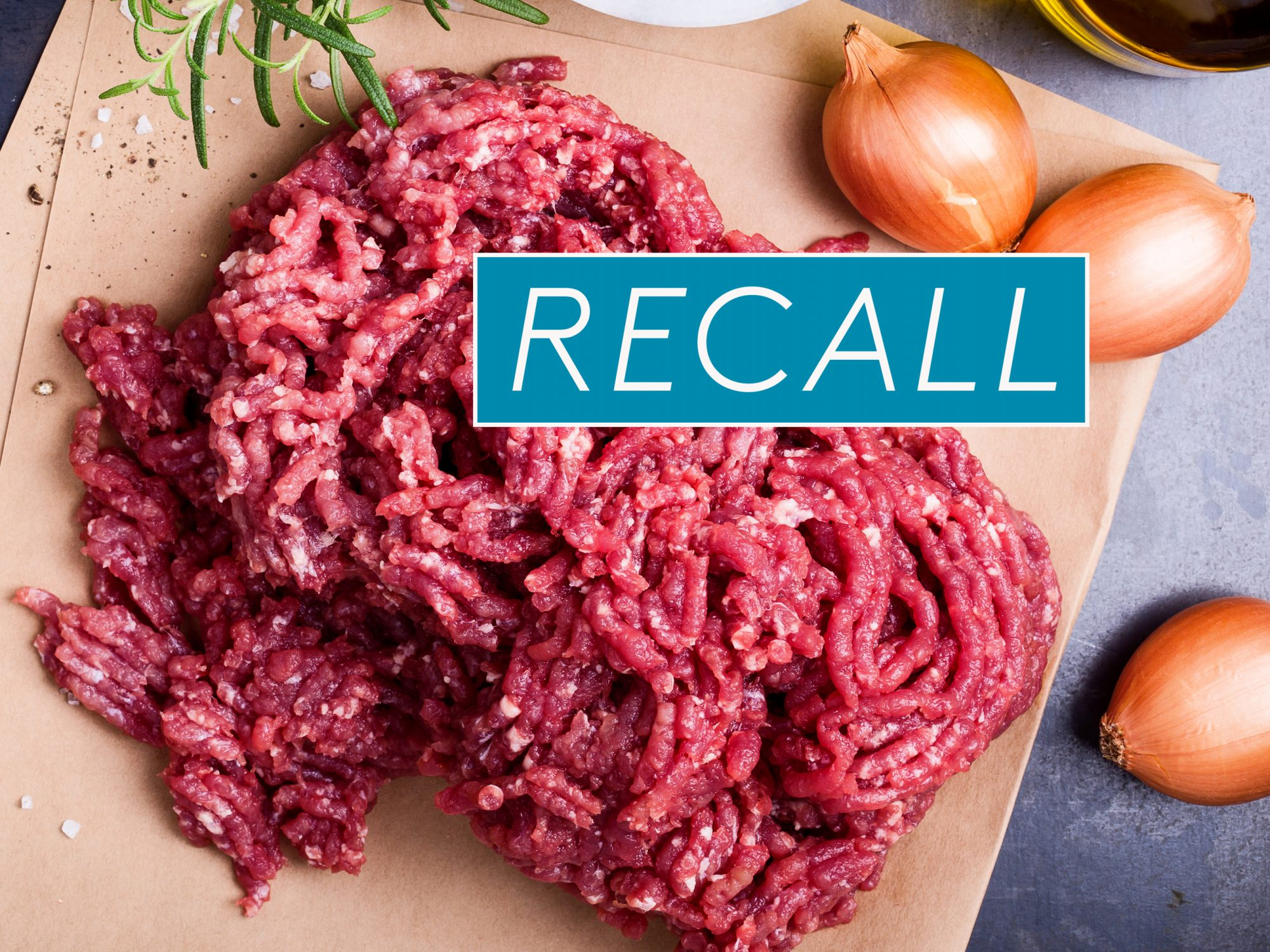 ground beef with recall logo