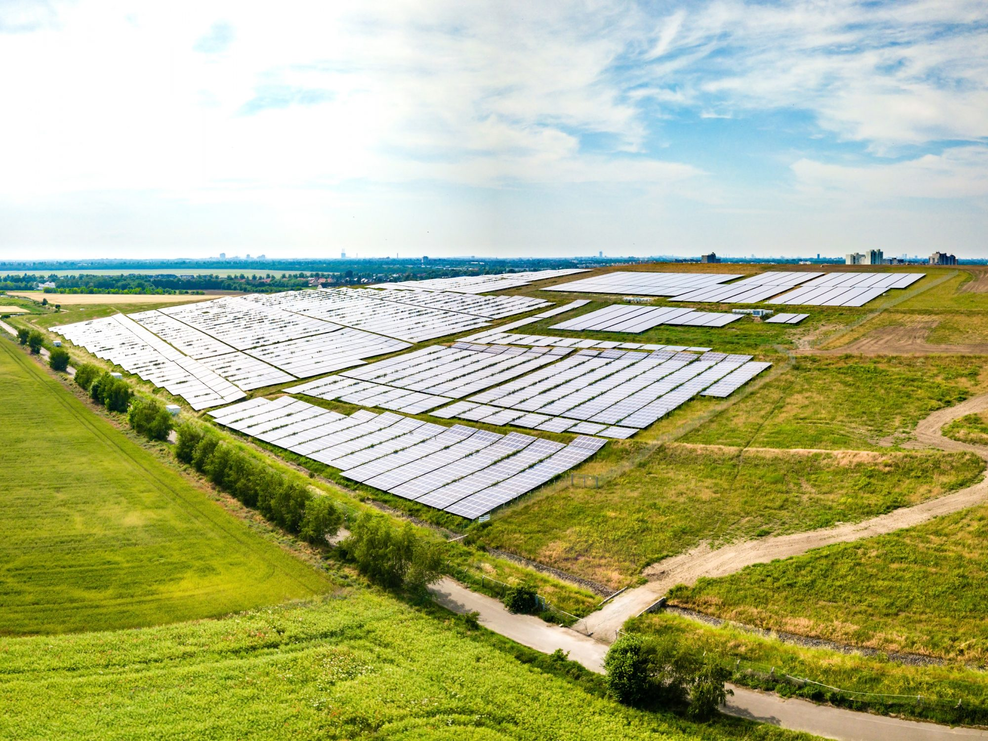 Clean Electricity Solar Farm Power Station in Germany
