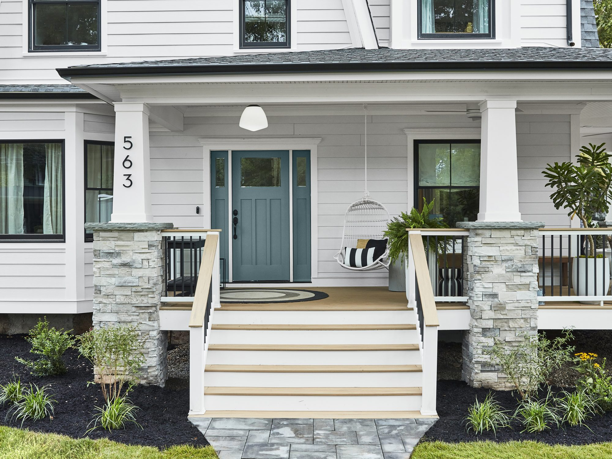 Front entrance of Real Simple Home