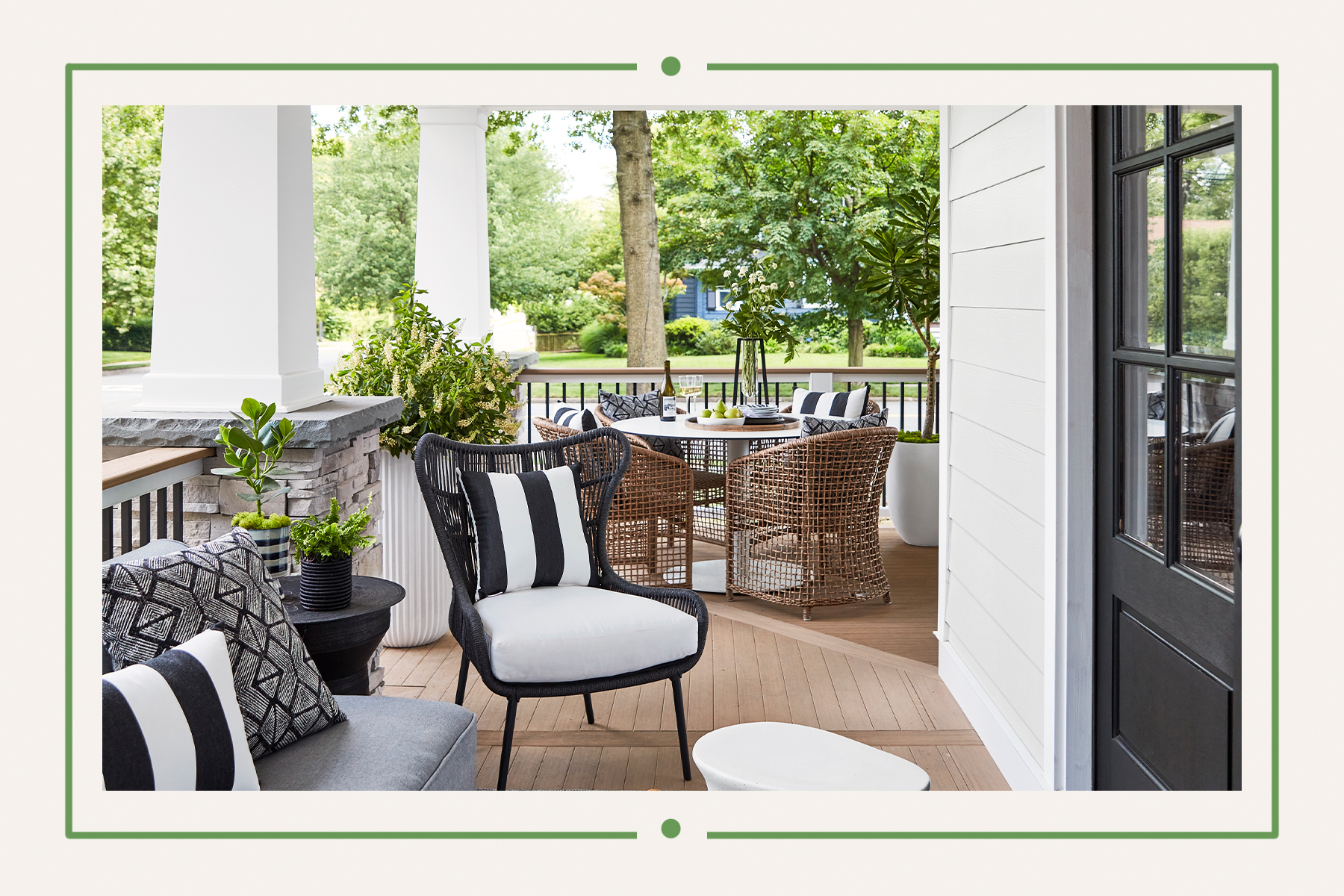 Porch at the Real Simple Home