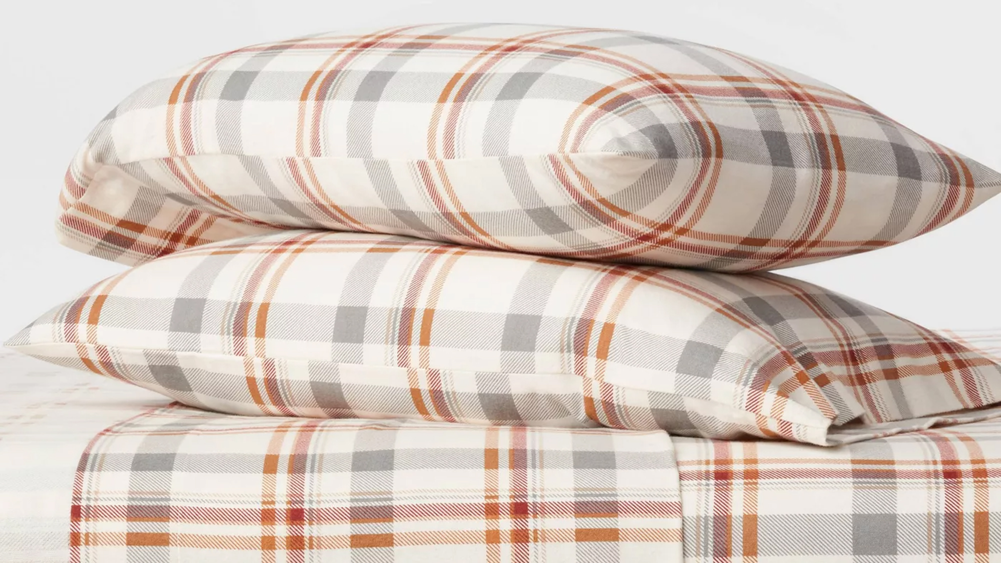 Fall Flannel Patterned Sheet Set - Threshold
