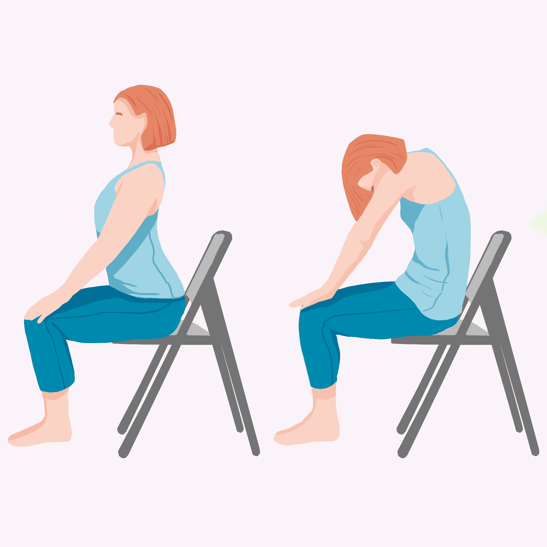 Chair Yoga: Cat/Cow pose