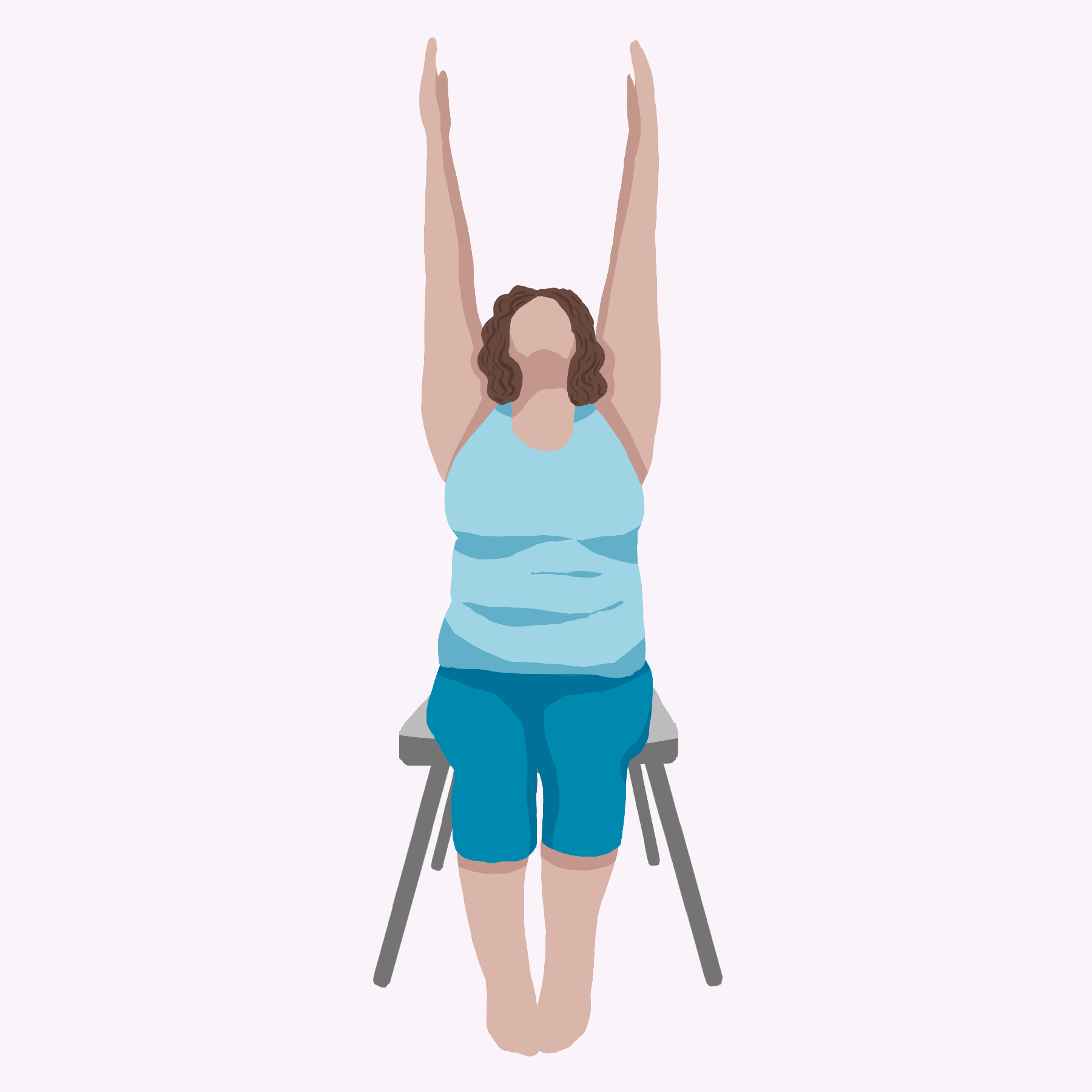 Chair Yoga: Extended Mountain Pose