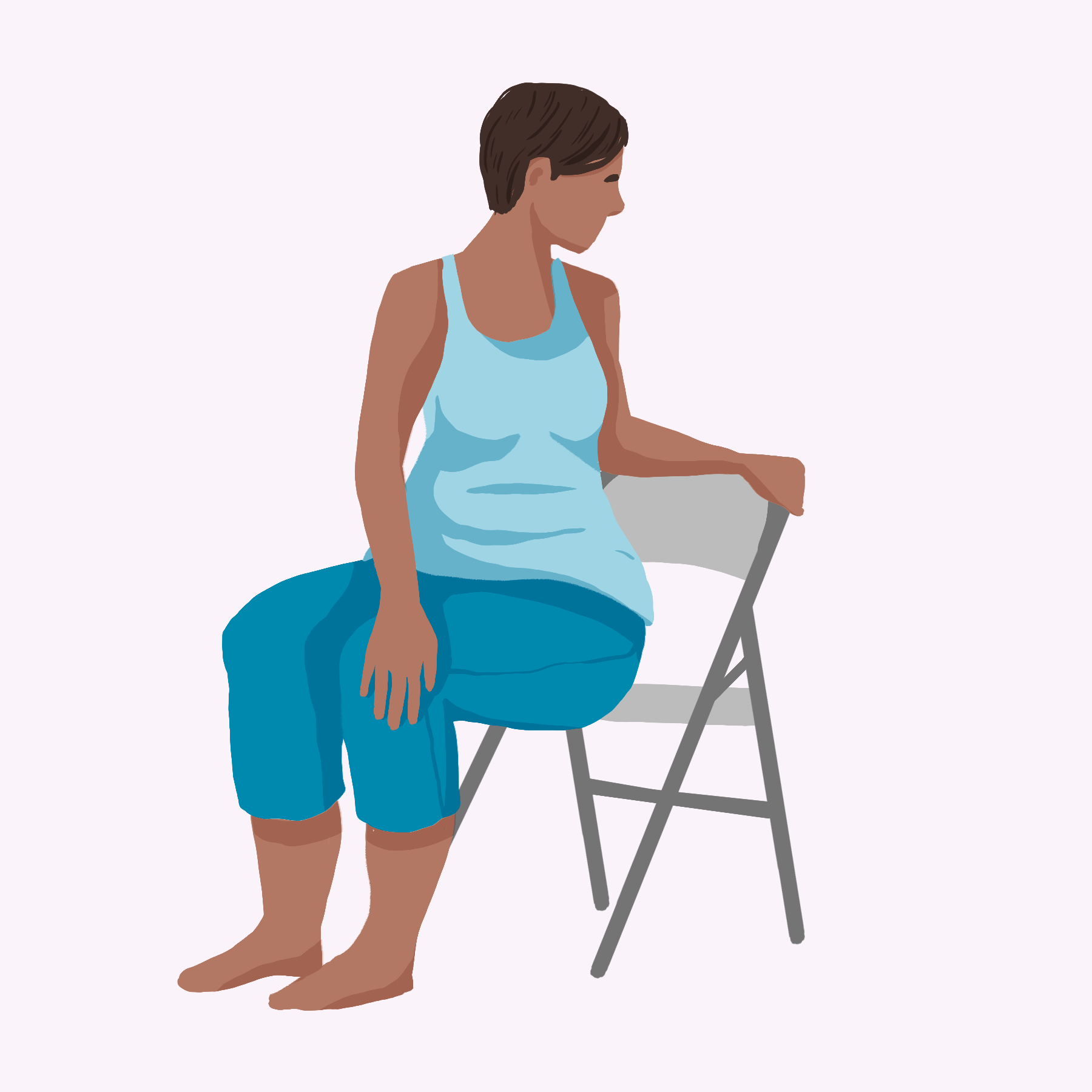 Chair Yoga: spinal twist pose