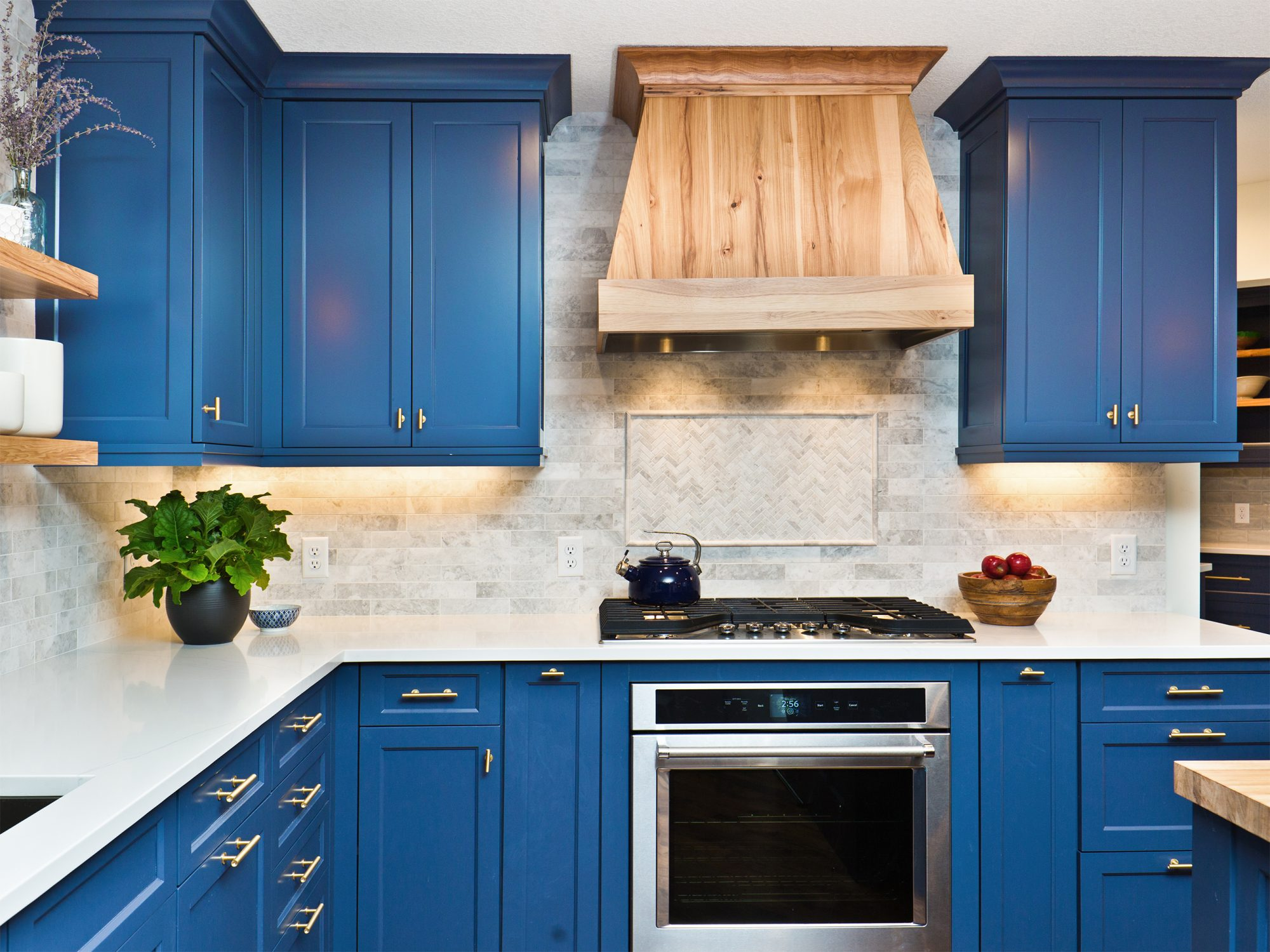 Home Improvement Remodeled Contemporary Kitchen design with painted cabinets
