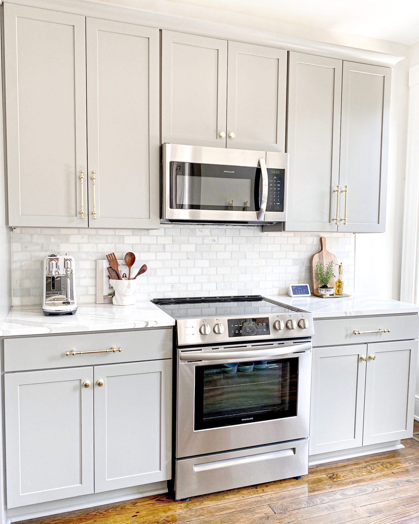 off-white cabinets in kitchen