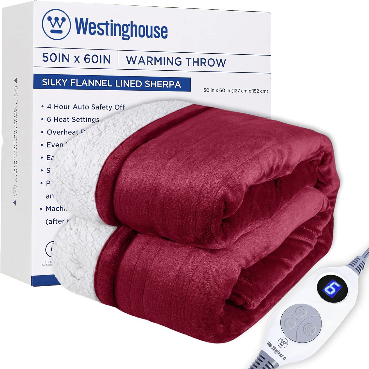 Westinghouse Electric Blanket Heated Throw