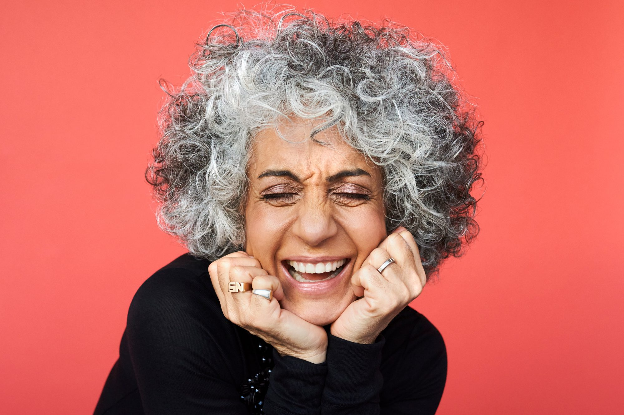 pro-aging: older woman laughing