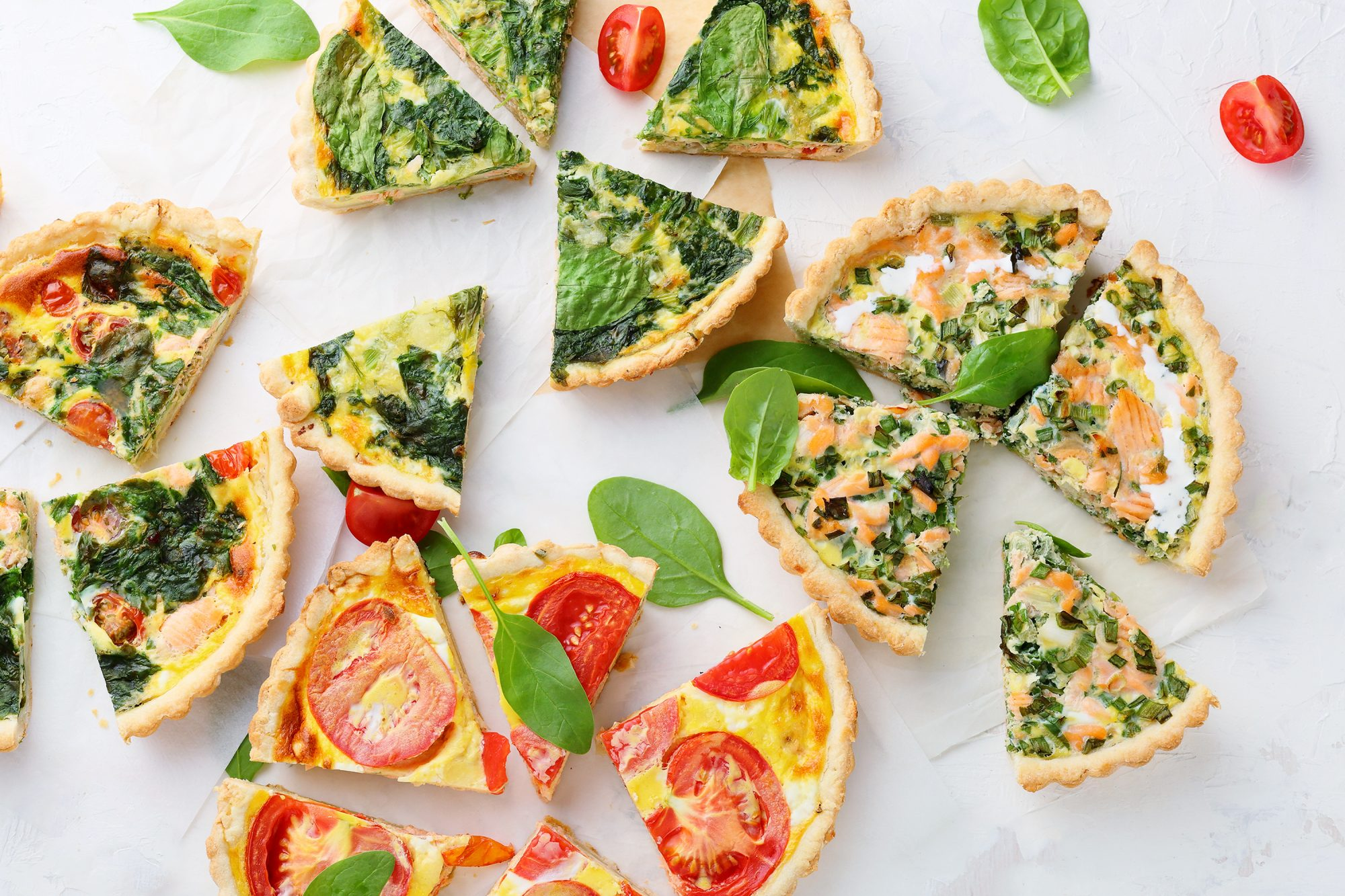 Professional Chefs Share Their Tips for the Best Quiche: slices of quiche