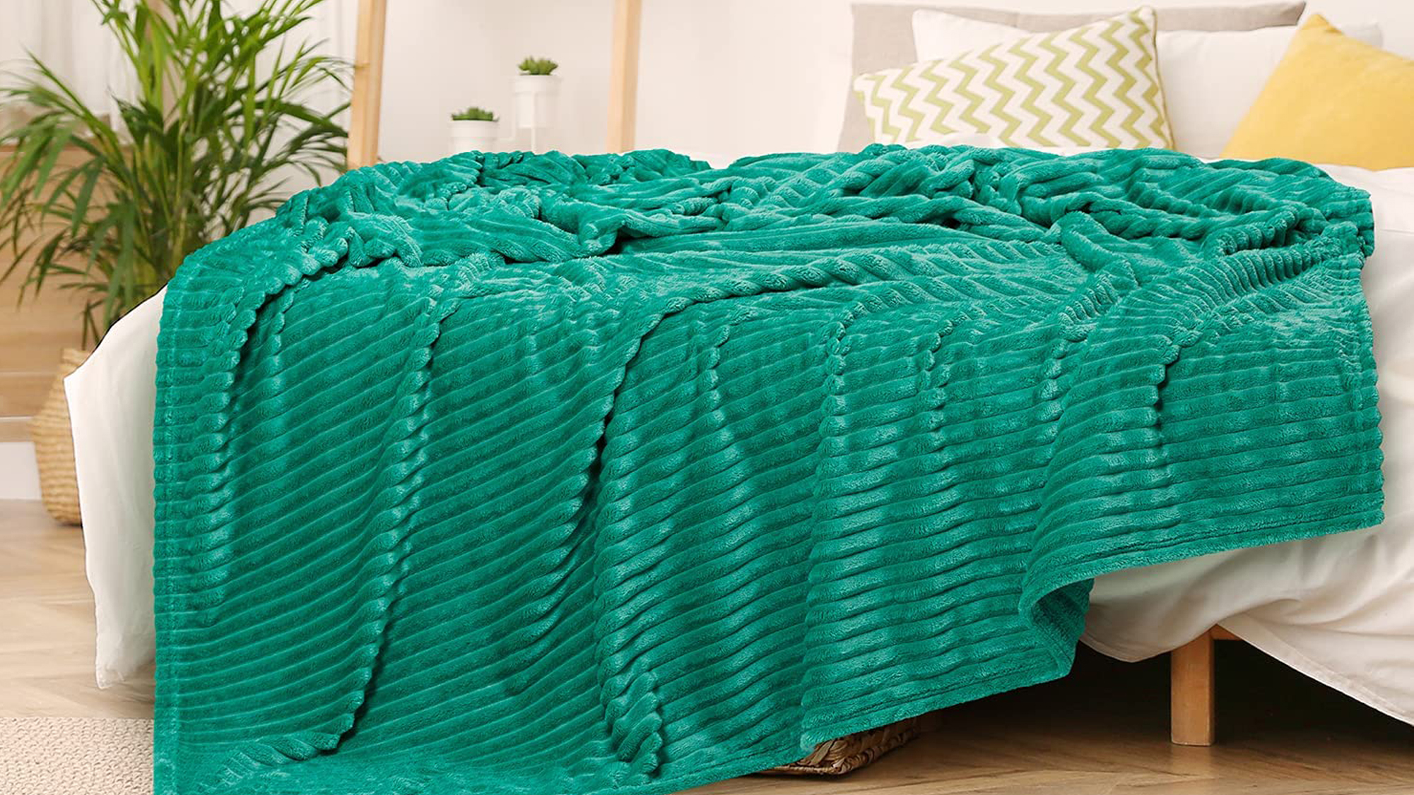 GREEN ORANGE Throw Blanket for Couch