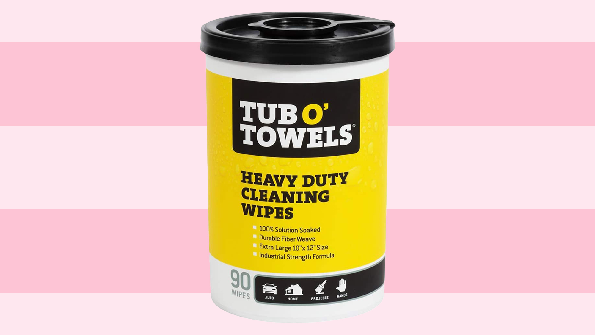 """Tub O Towels Heavy-Duty 10"""" x 12"""" Size Multi-Surface Cleaning Wipes"""