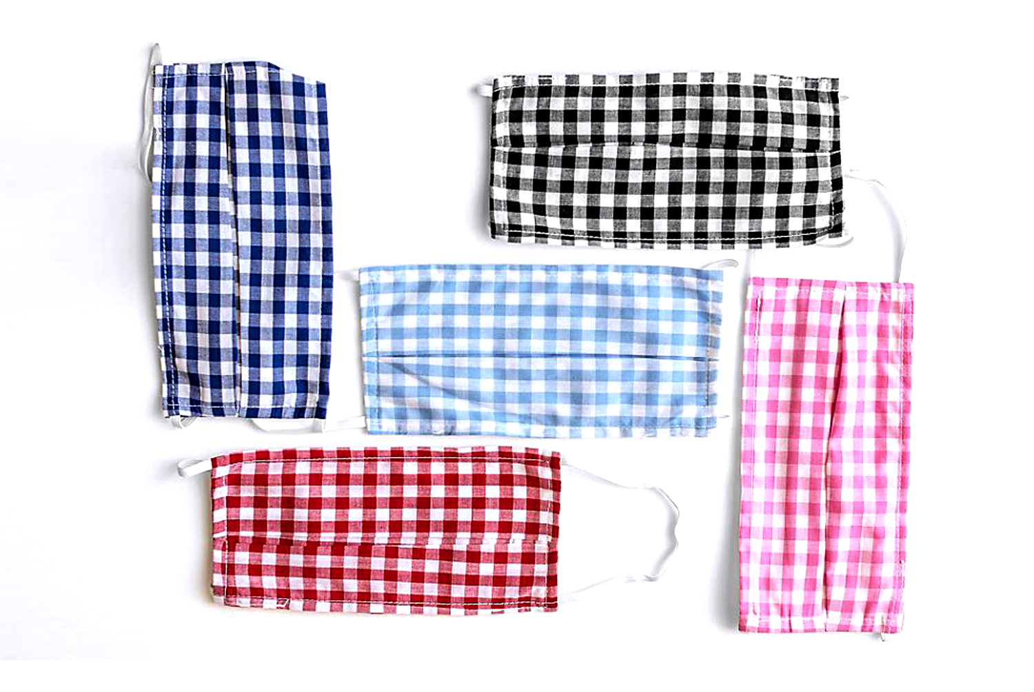 Amadi Gingham Reusable Ear Loop Face Mask