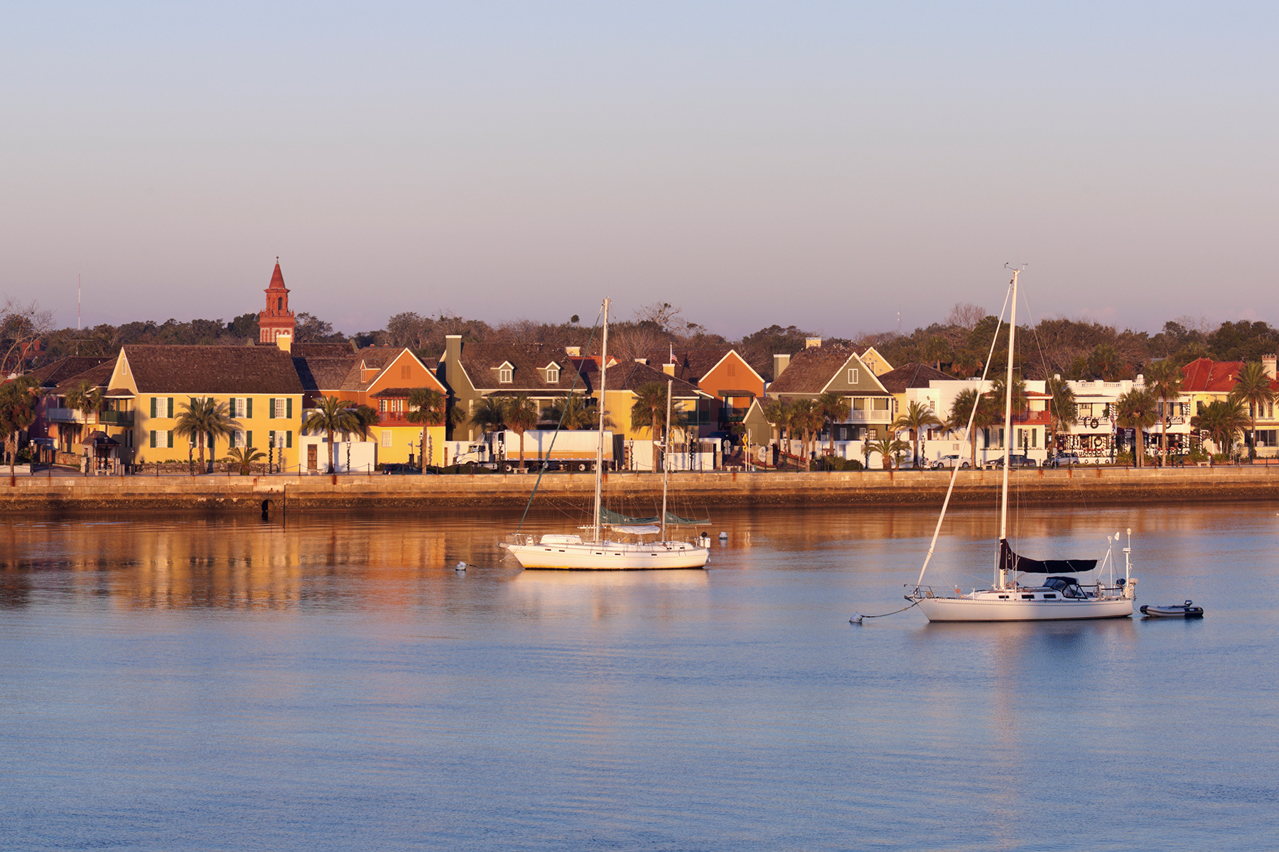 Panoramic view of the coast of Saint Augustine