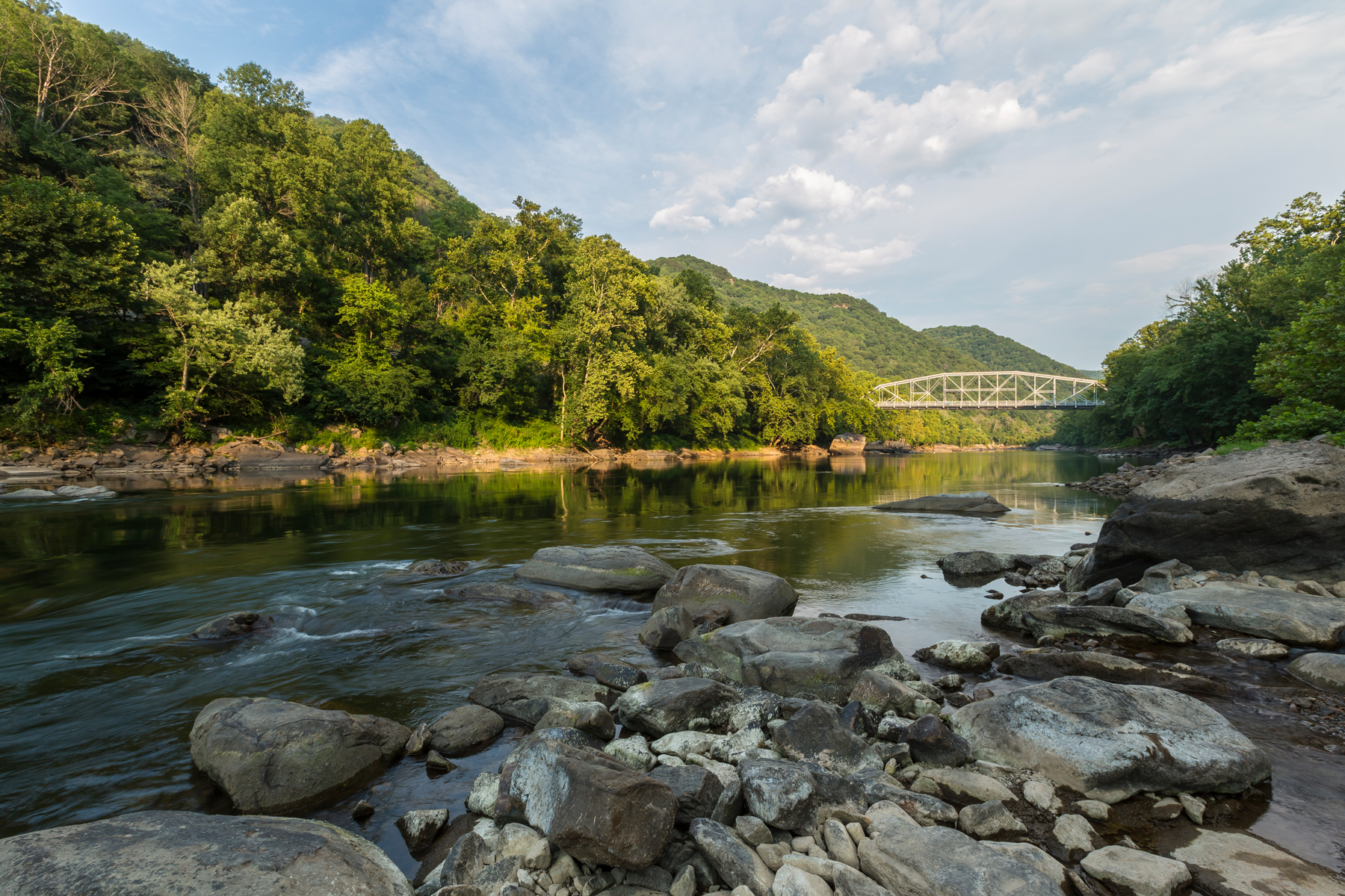 scenic landscape of the New River Gorge