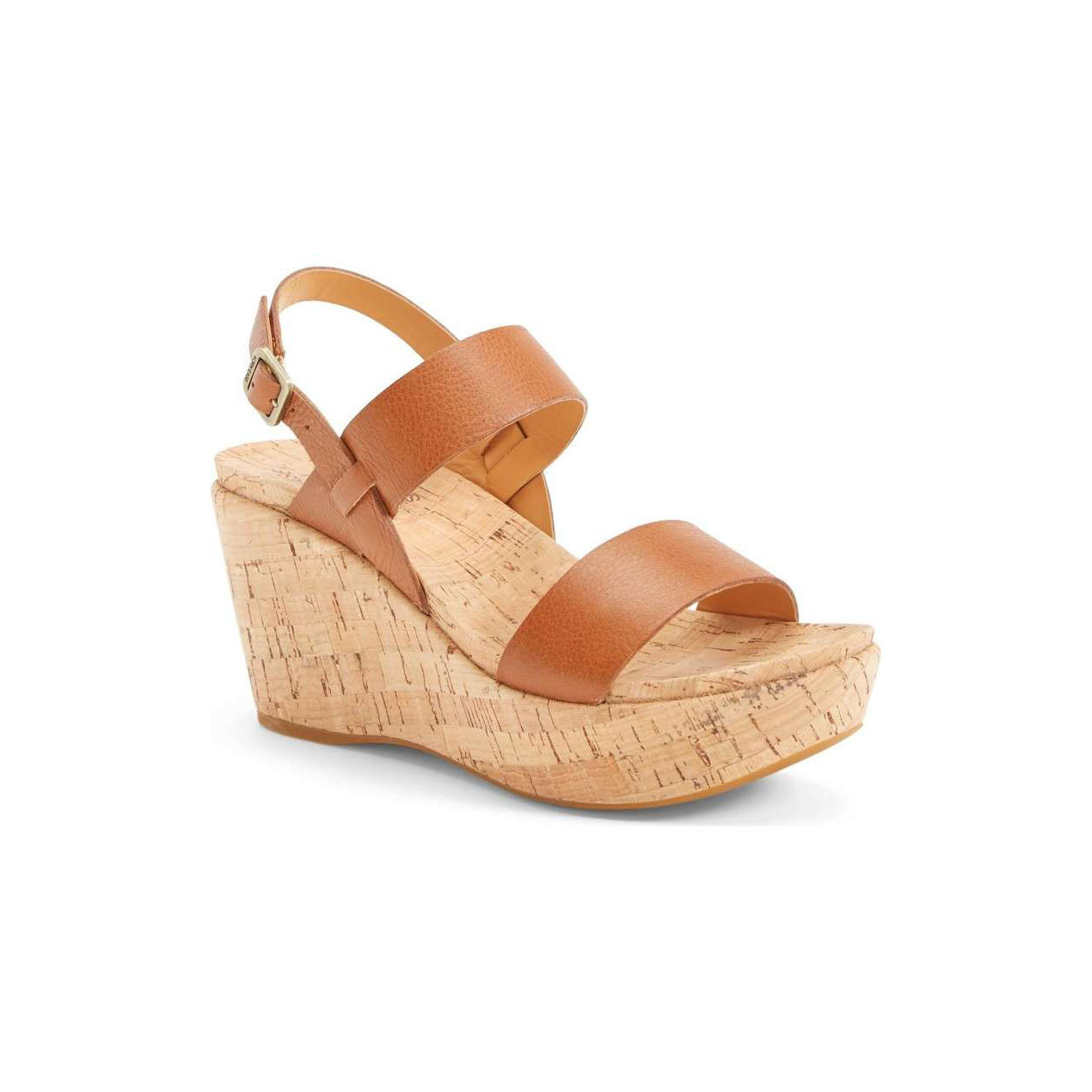 Slingback Cork Wedge Sandal