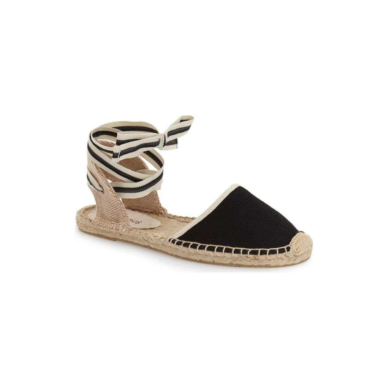 Black and White Espadrille Sandal