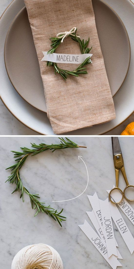Table Top Décor: Written in Rosemary
