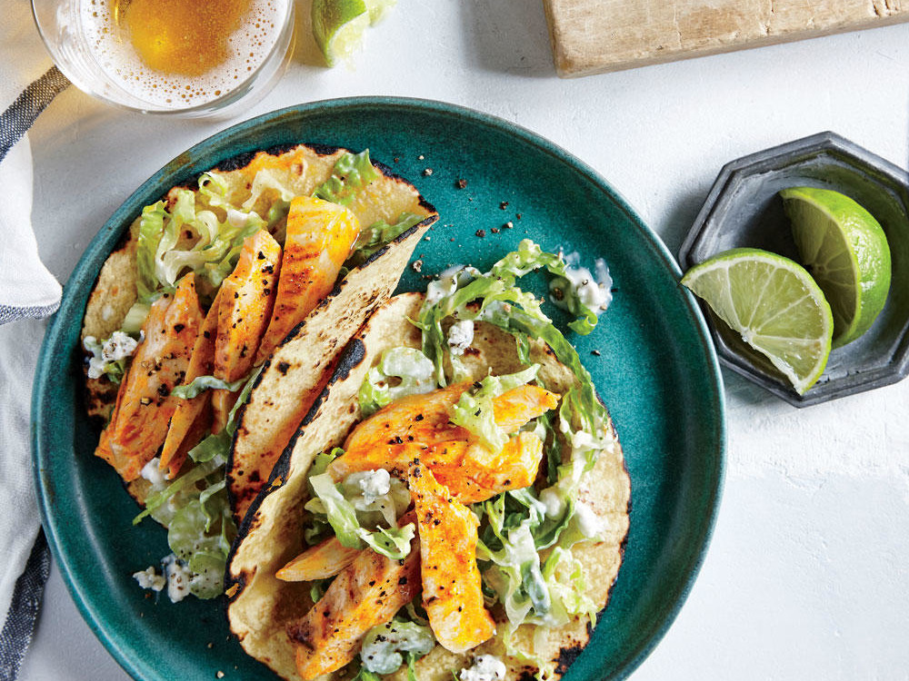 Grilled Buffalo Chicken Tacos