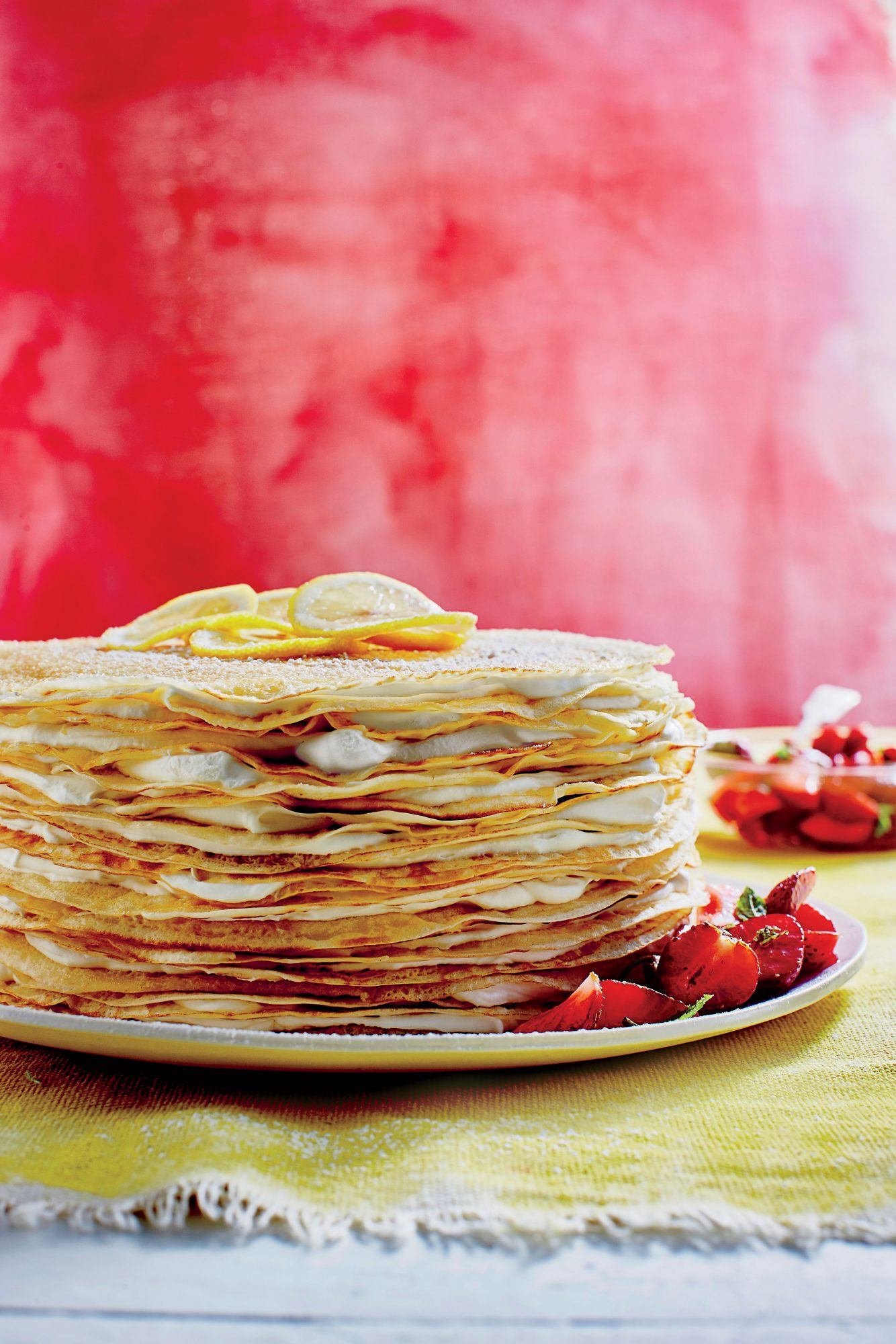 Strawberry-Lemon Crêpe Cake