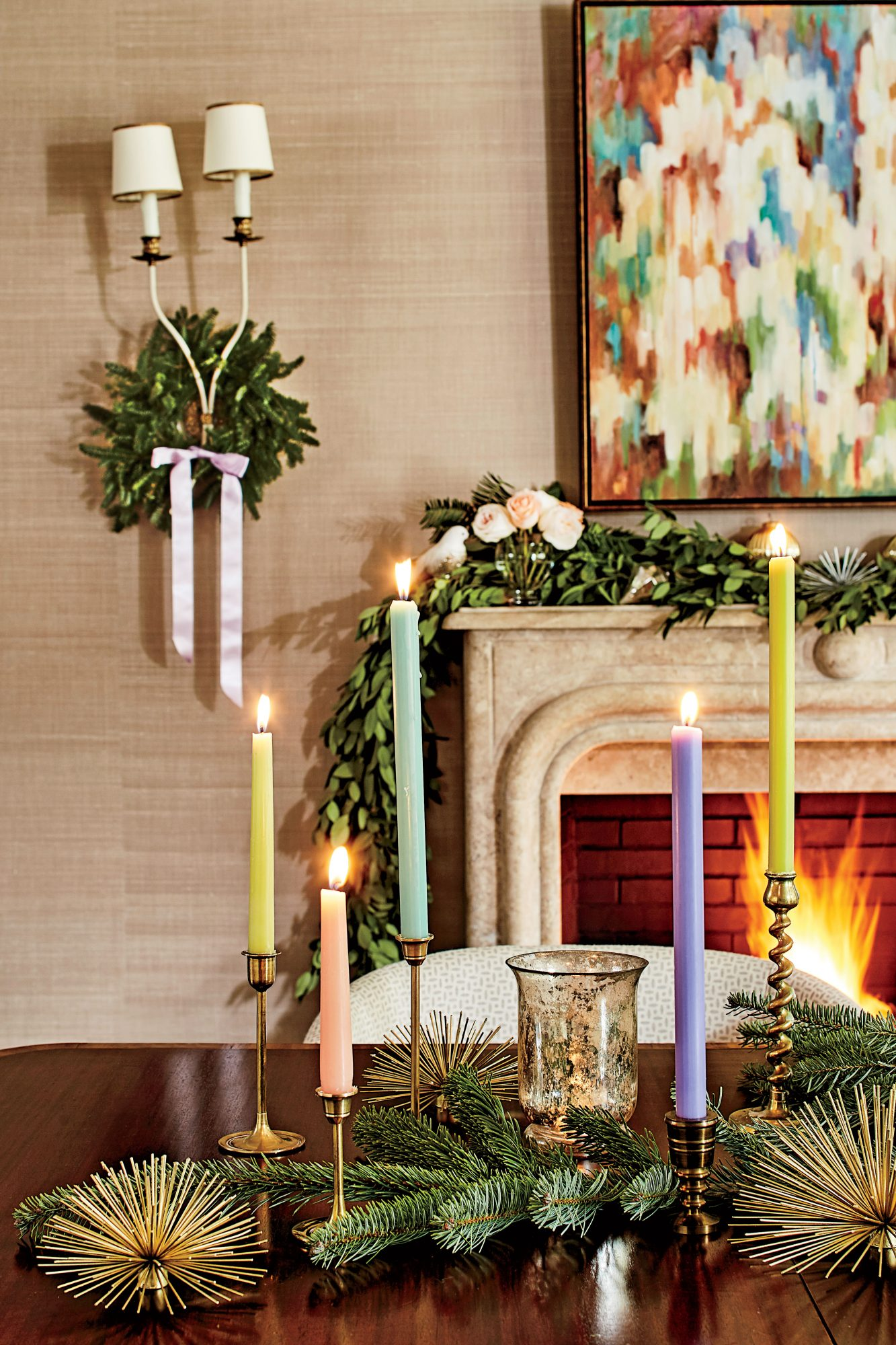 Charlotte Lucas Christmas Table Arrangement