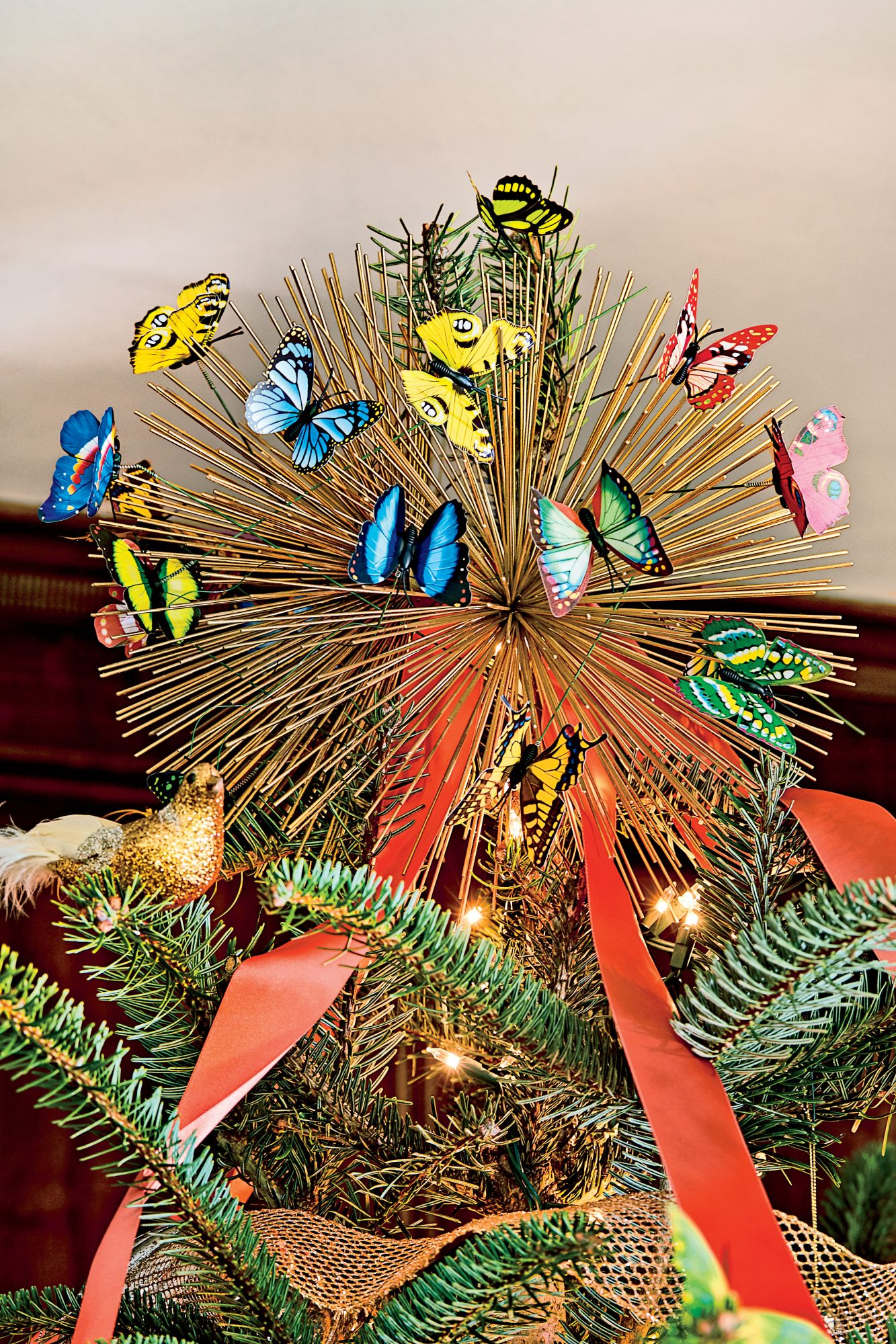 Butterfly Christmas Tree Topper by Charlotte Lucas
