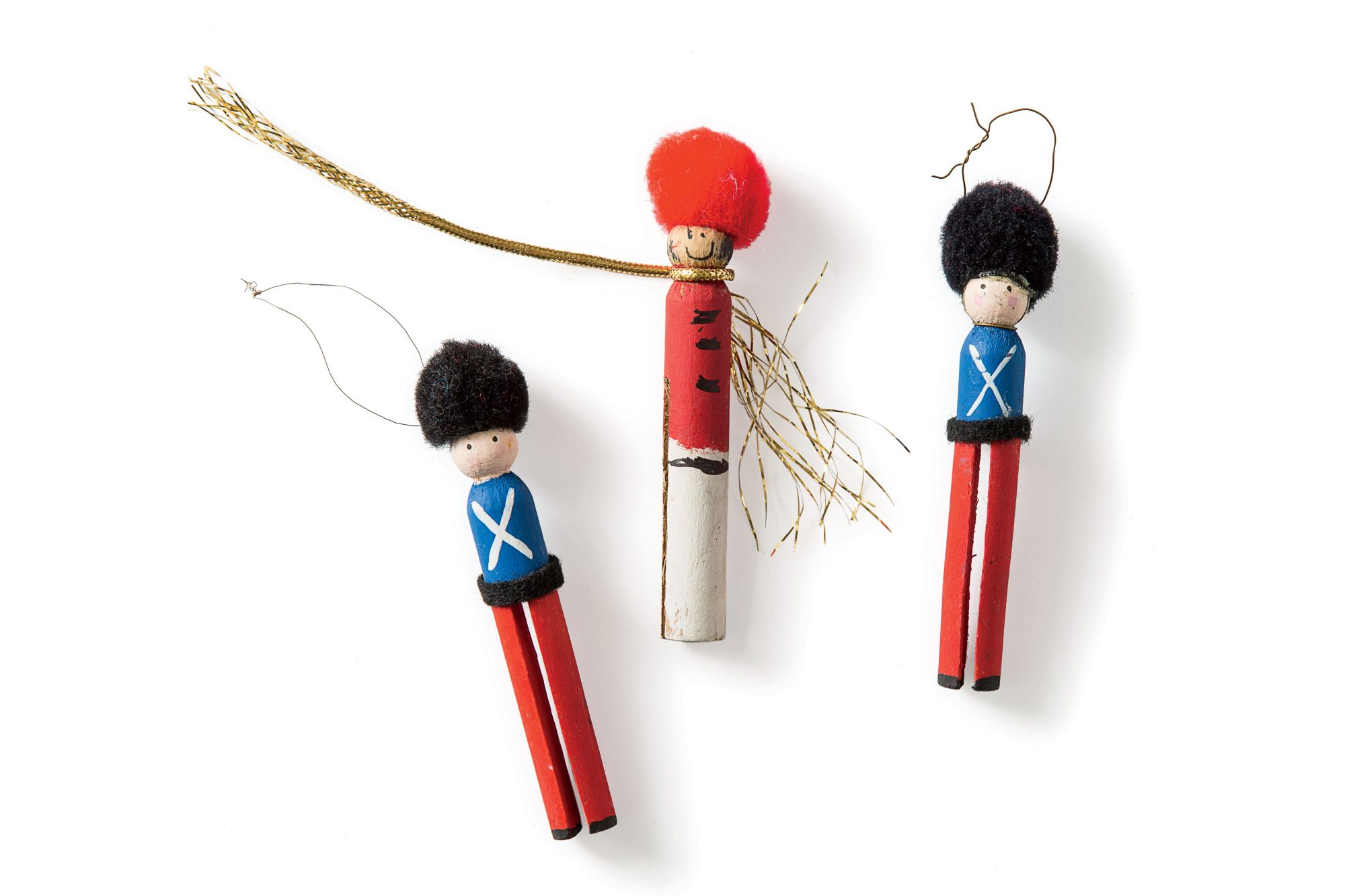Lee Smith Clothes Pin Soldiers Ornaments
