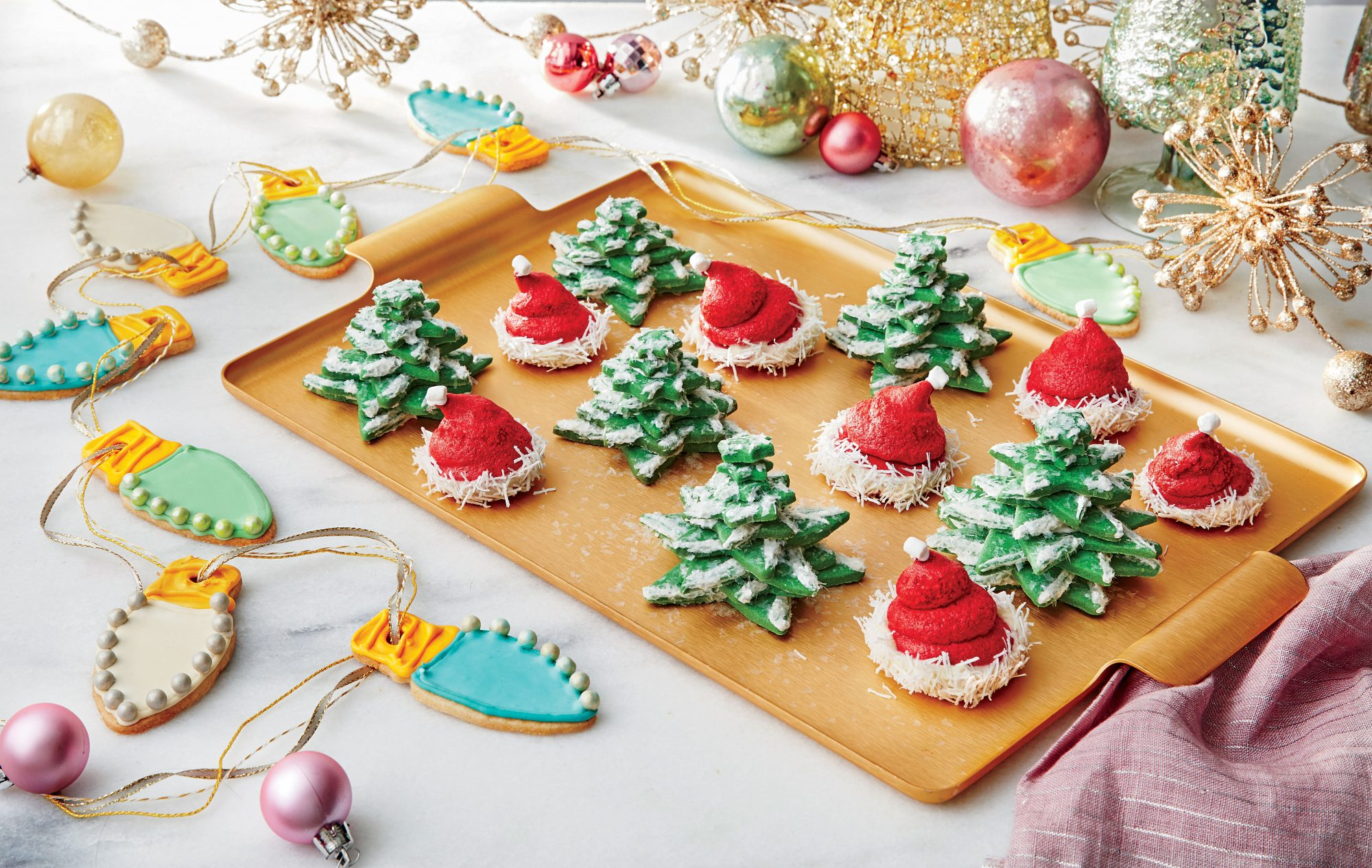 Snowy Tree Cookies