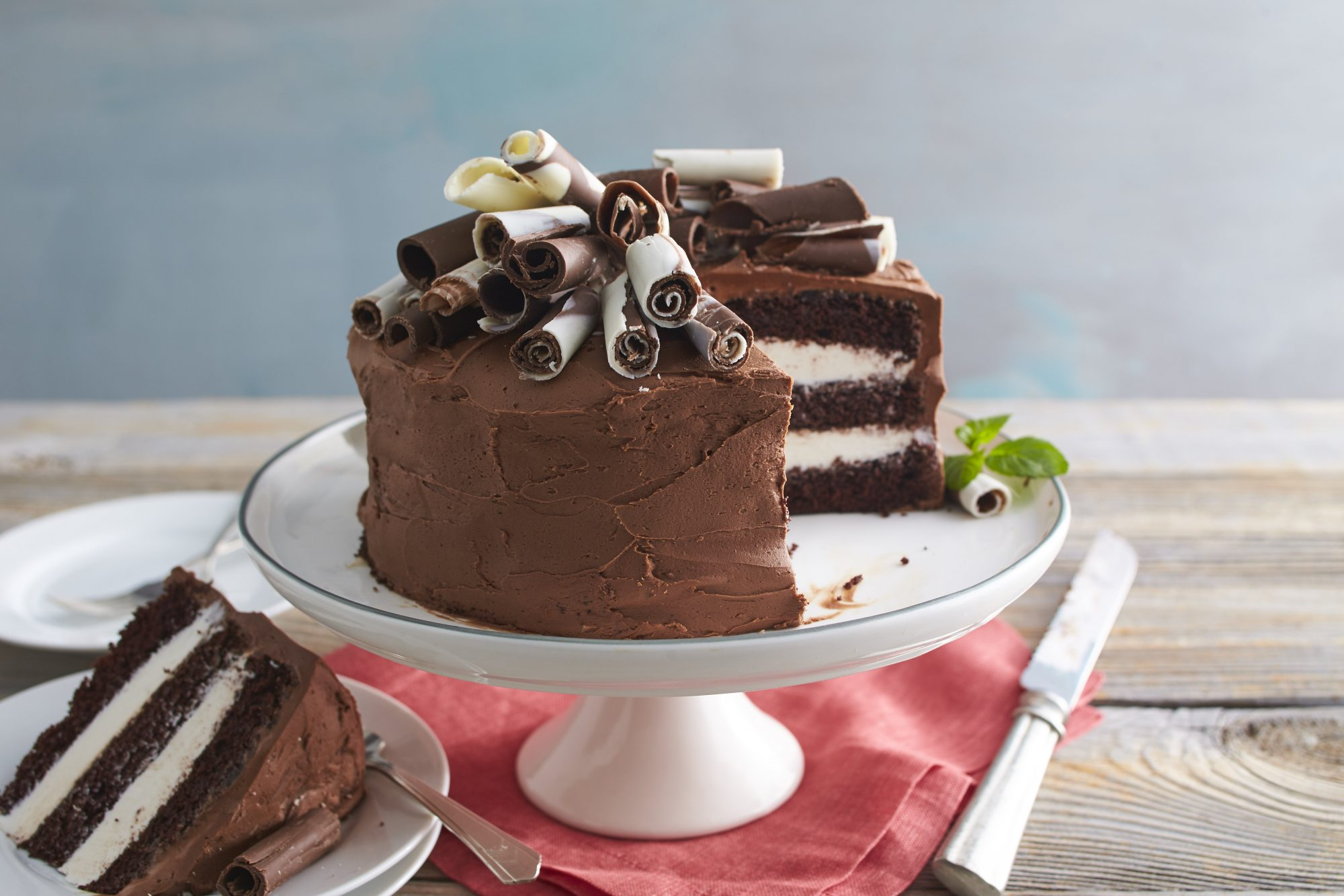 Chocolate-Mint Whipped Cream Cake