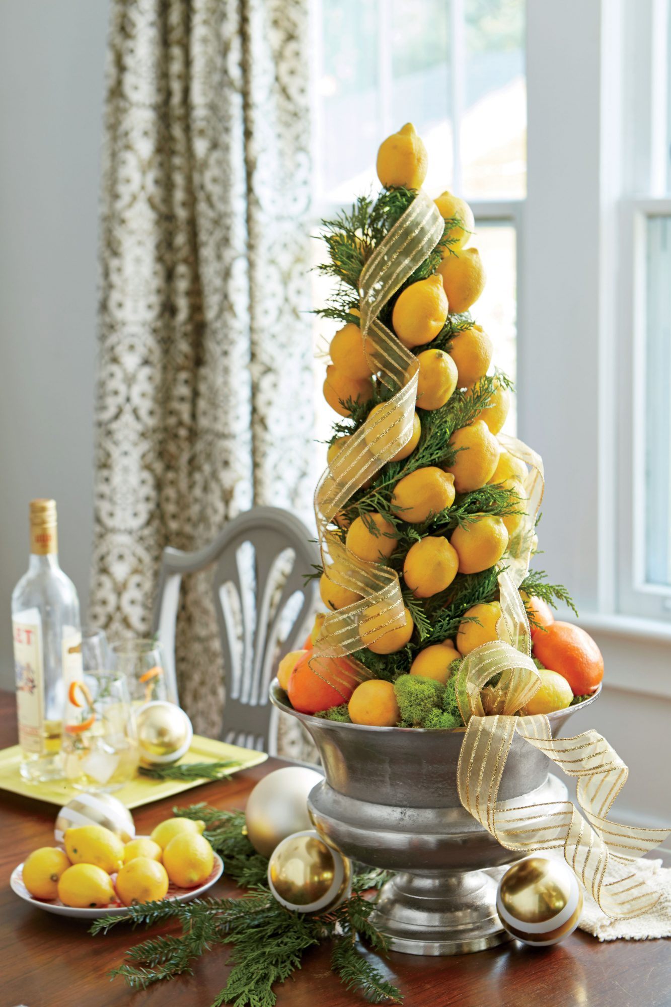 Lemon and Orange Small Space Christmas Tree