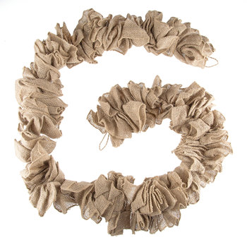 A Gathered Natural Burlap Garland