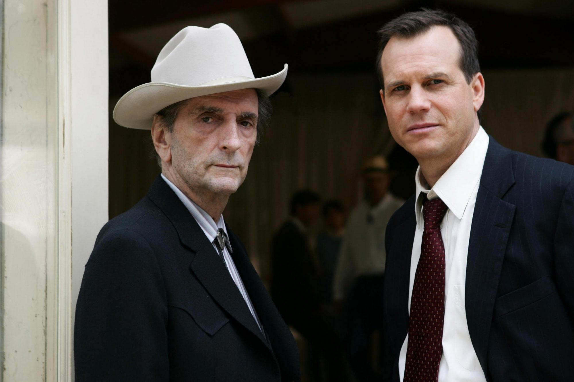 Harry Dean Stanton with Bill Paxton on HBO's Big Love