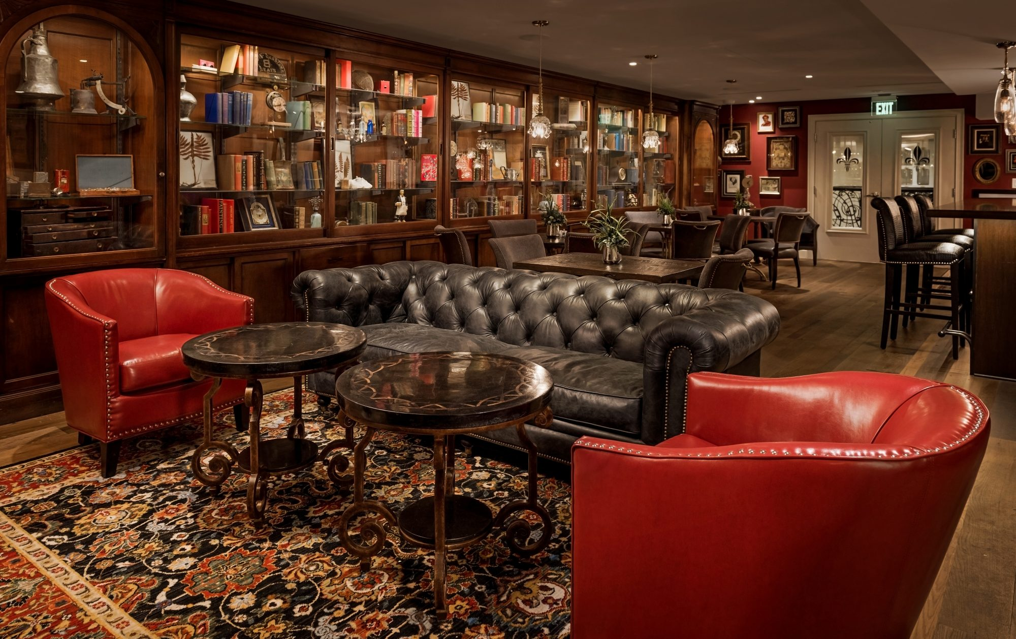 The Ivey's Hotel Library Lounge
