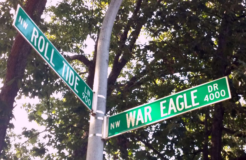 Roll Tide Lane and War Eagle Drive