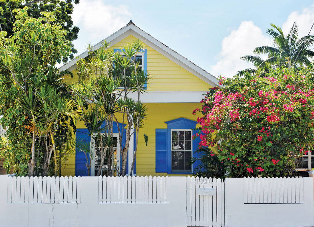 Blue and Yellow House in Key West Florida