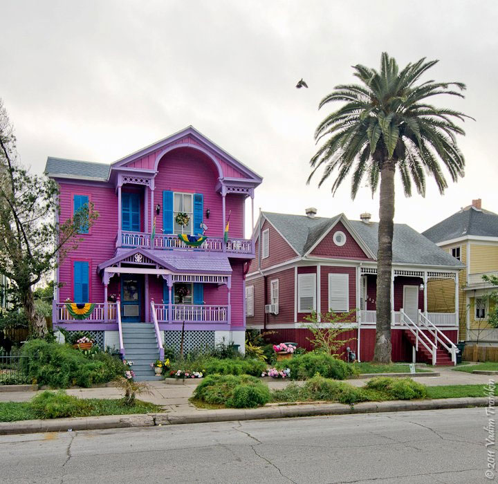 Purple House in Galveston Texas