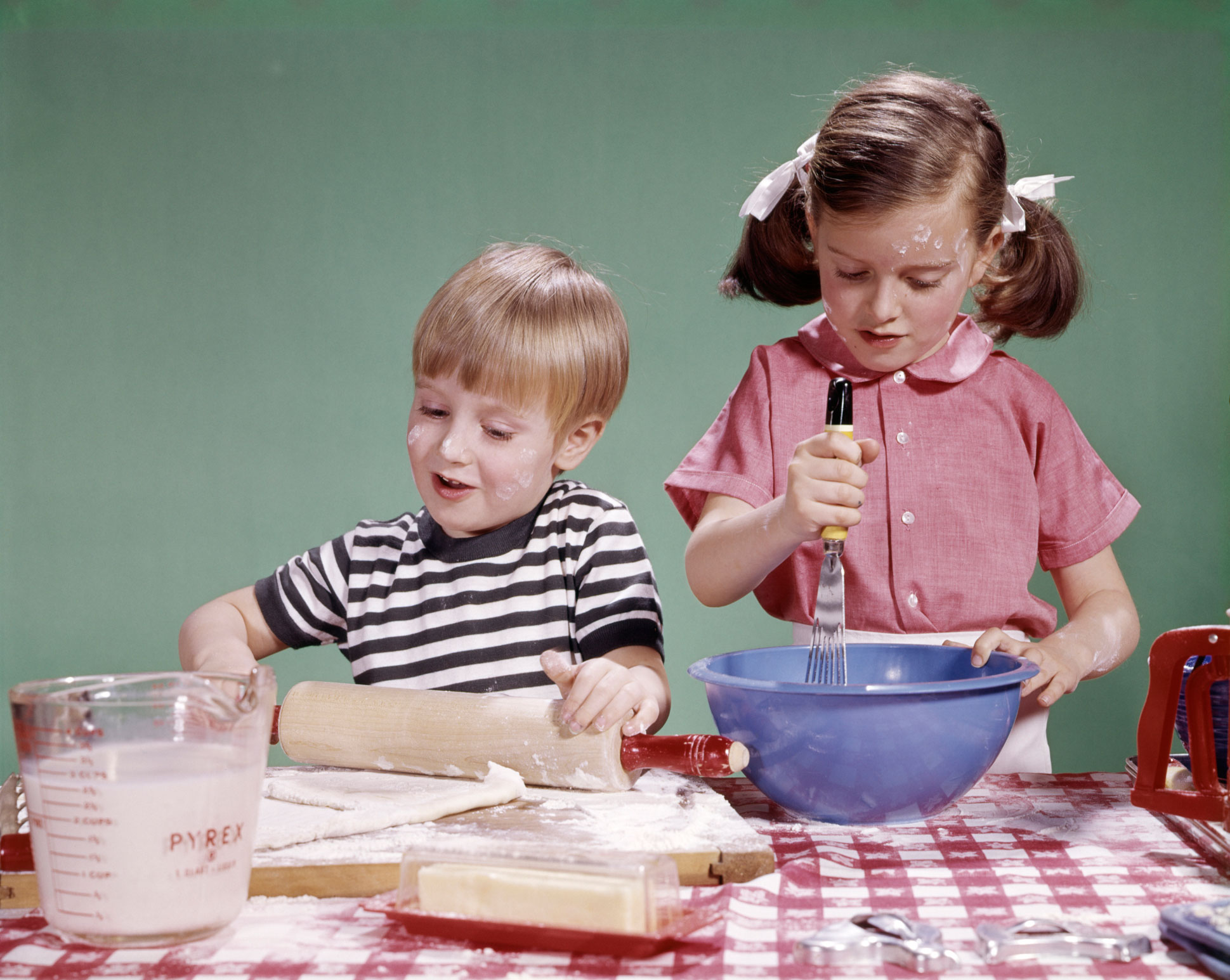 Vintage Boy and Girl Baking with Butter.jpg