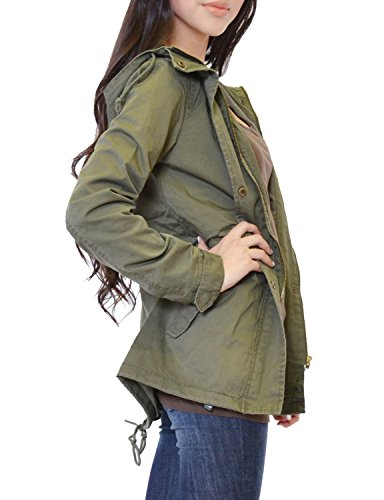 TL Women's Versatile Military Anorak Parka Hoodie Jacket with Drawstring