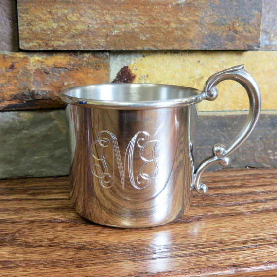 Personalized Silver Baby Cup
