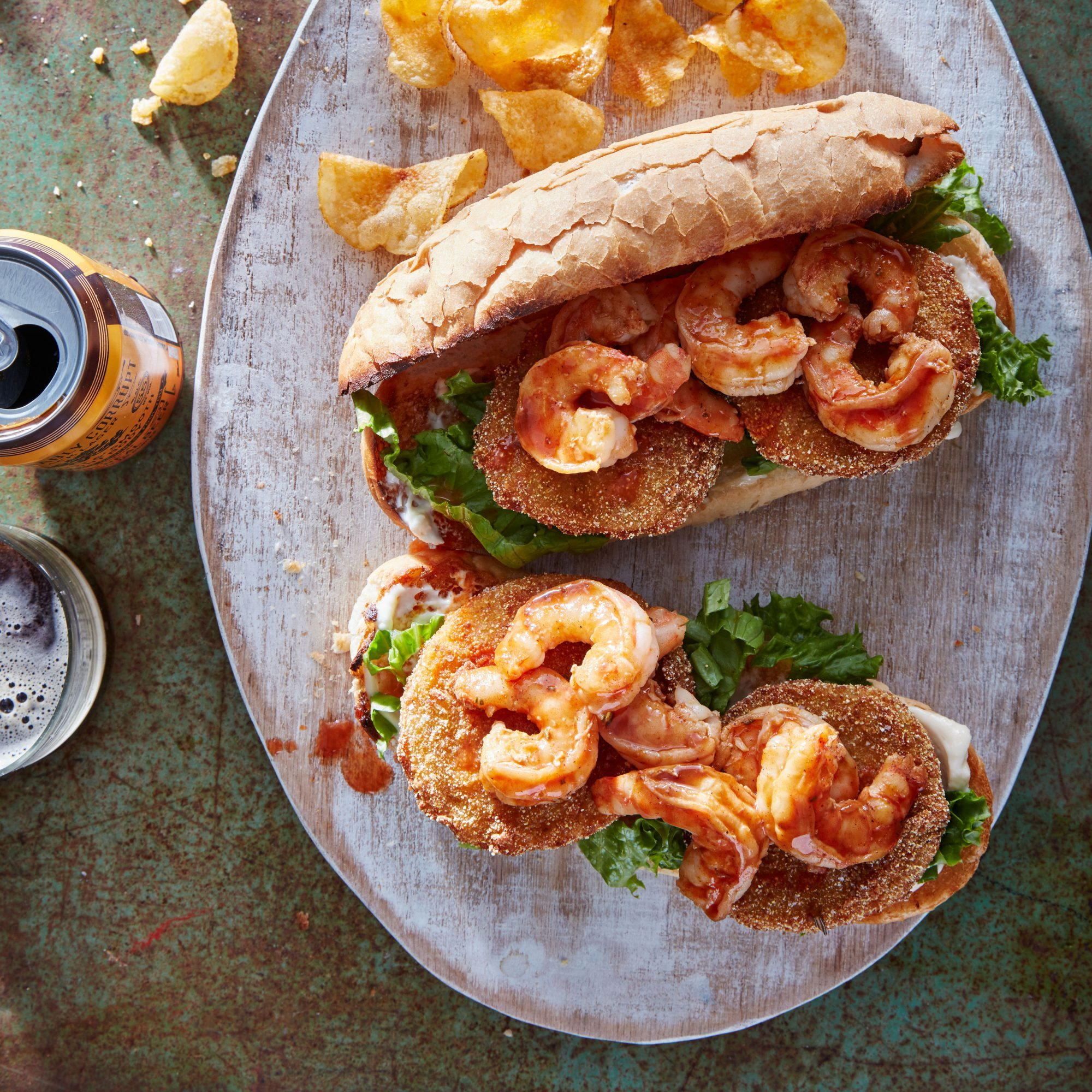Grilled Shrimp Po'Boys with Quick Rémoulade