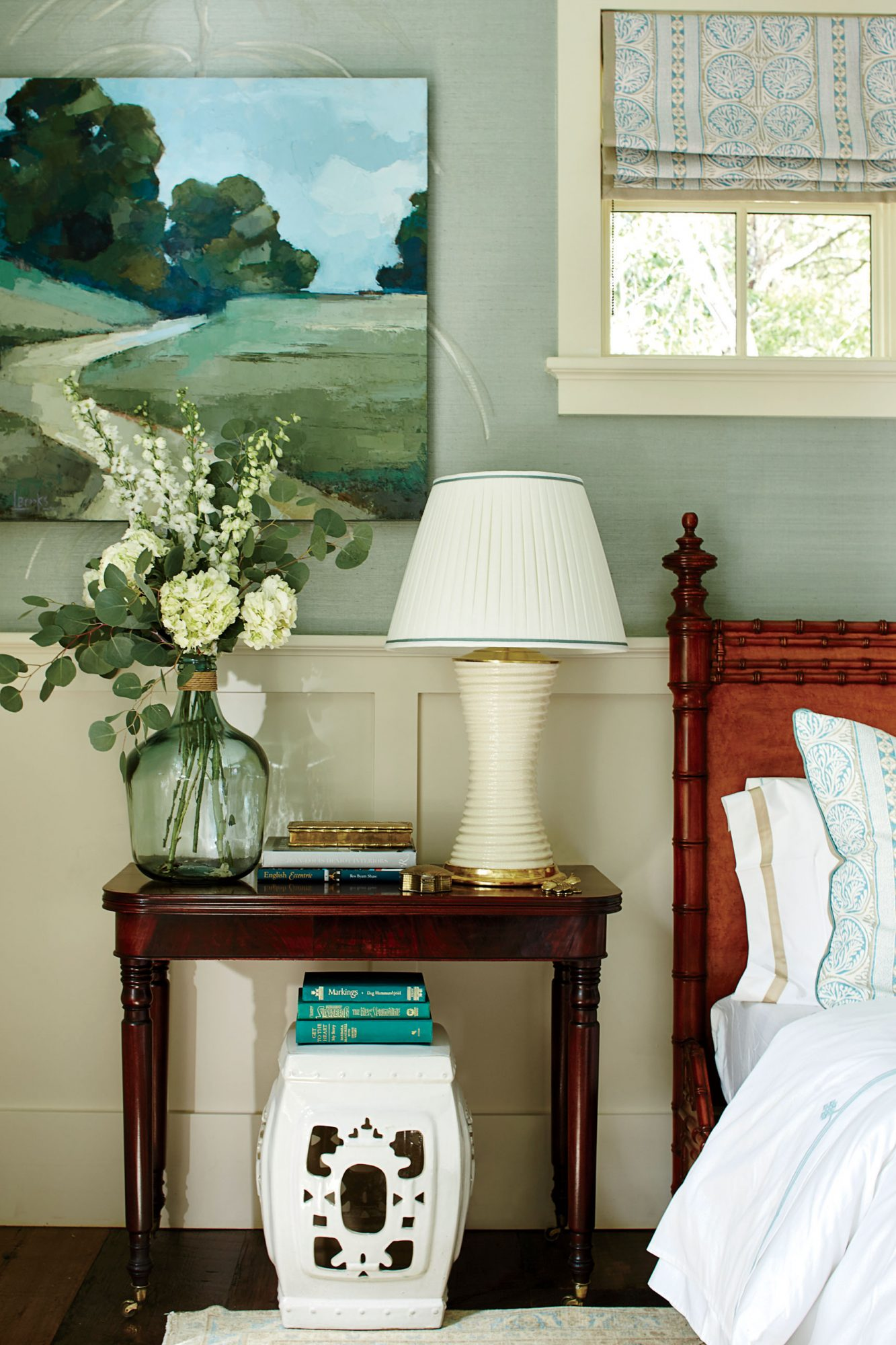 Southern Living Bedside Oil Painting