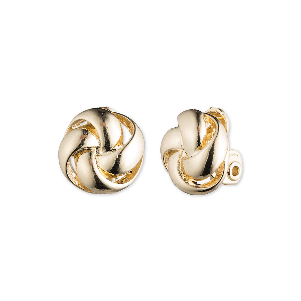 Gold Knot Clip-On Earrings
