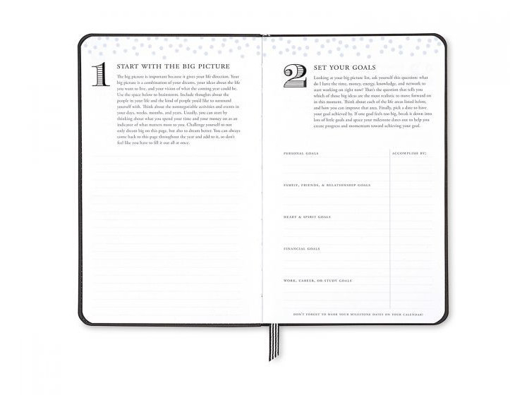 Blue Sky Day Designer Planner Big Picture Goals View
