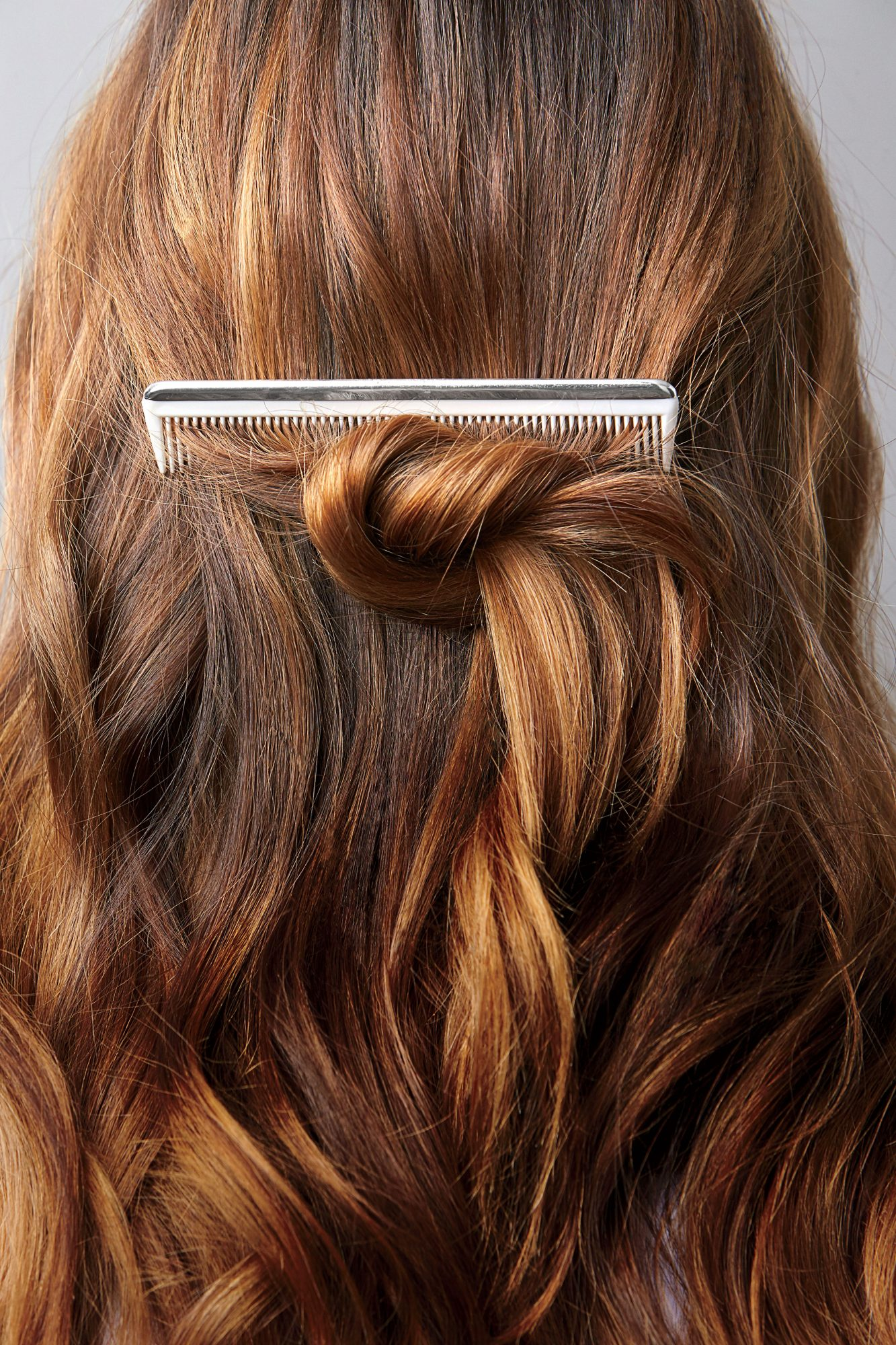 Brown Hair Comb Knot