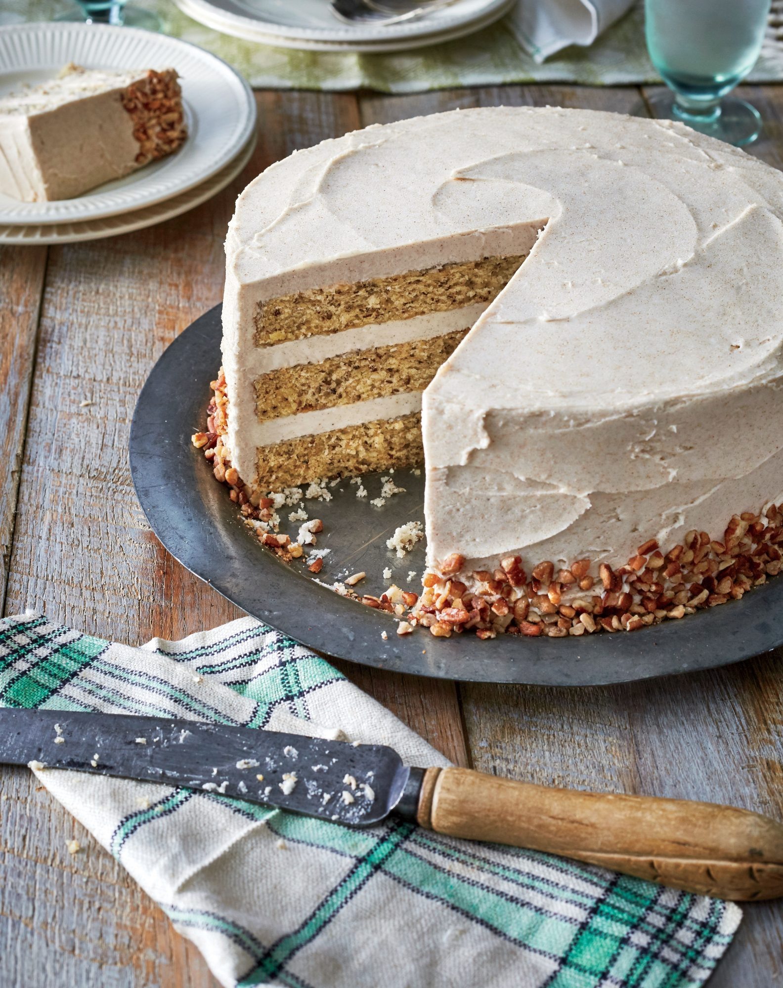 Butter Pecan Layer Cake with Browned Butter Frosting