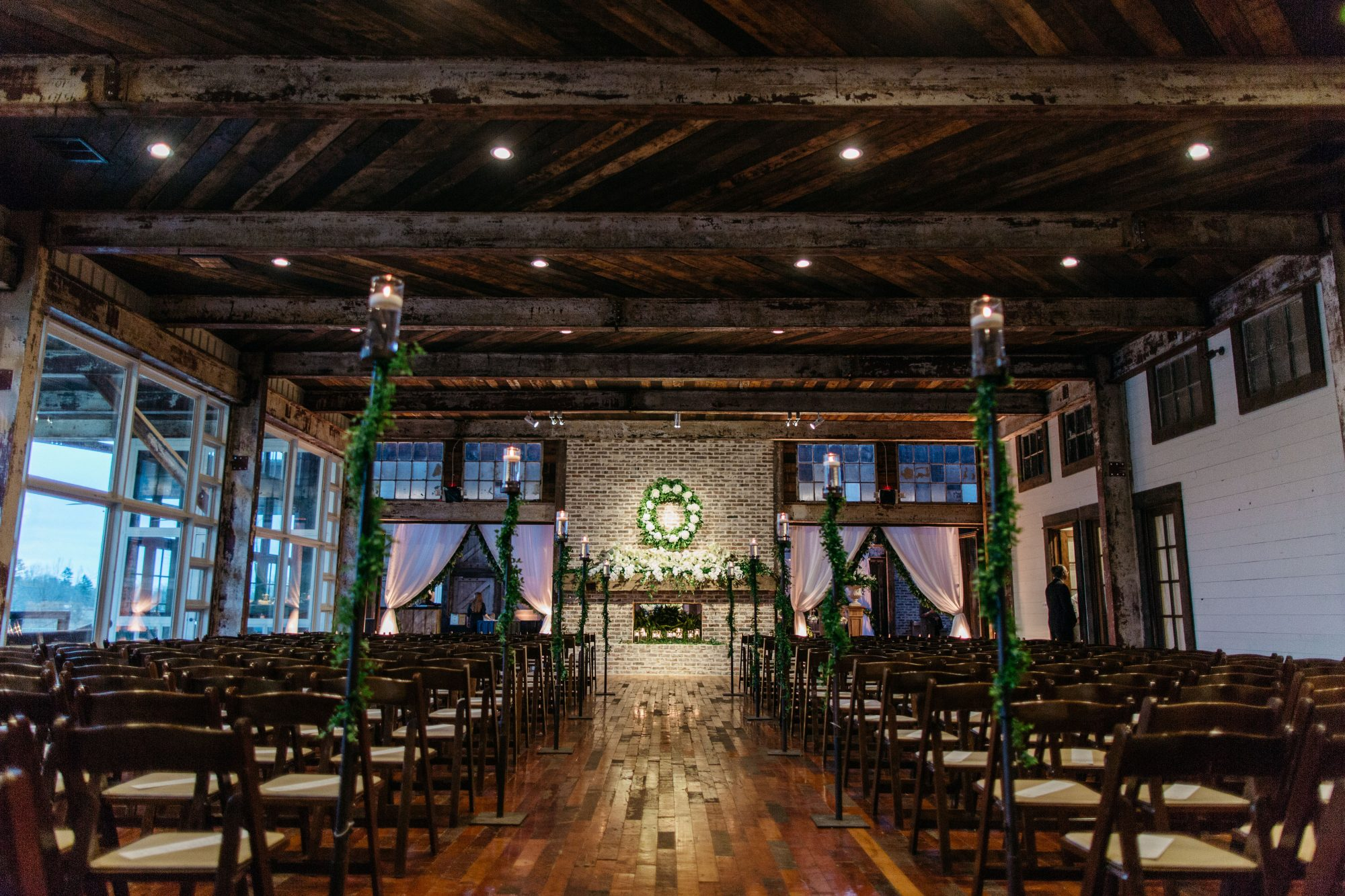 A Whimsical Wooden Ceremony Space