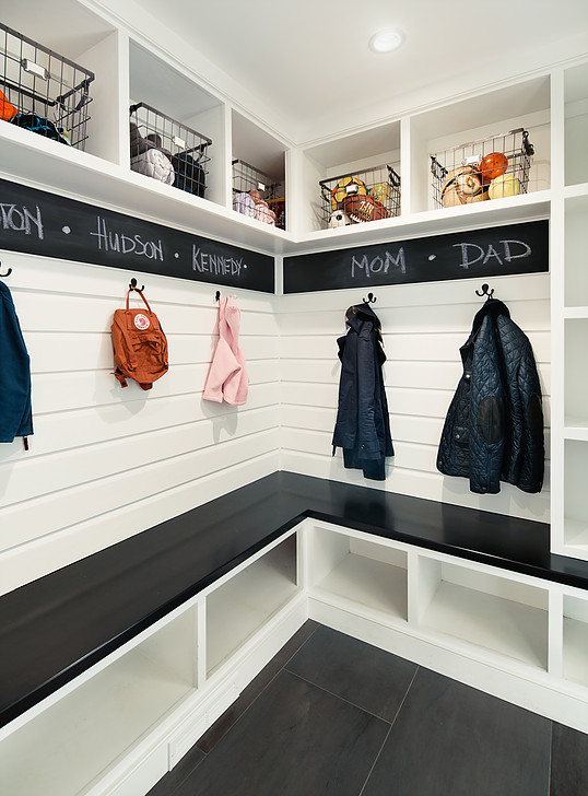 15 Mudroom Ideas We're Obsessed With Personalize It With Chalkboard Paint