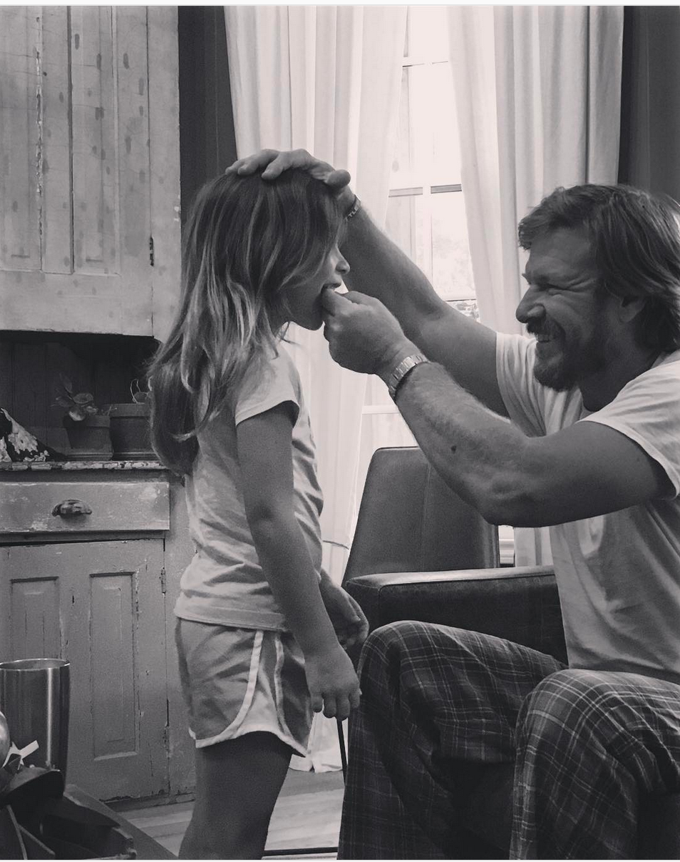 Chip Gaines With Daughter