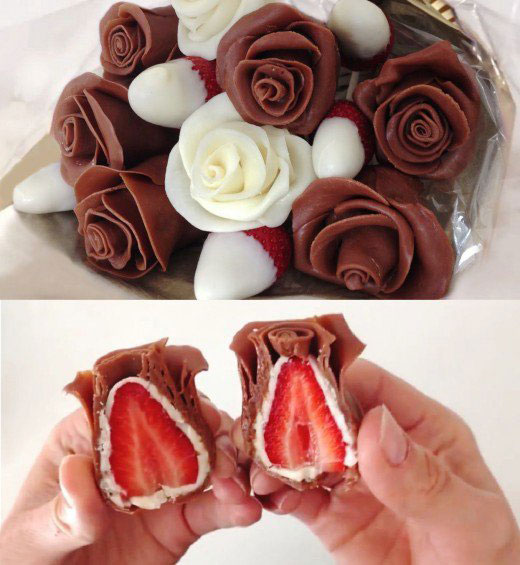 Chocolate-Covered Petals and Strawberry Roses